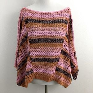 Free People   Loose Crocheted Sweater Top